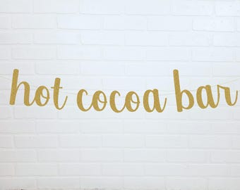 Hot Chocolate Bar | Hot Cocoa Bar | Hot Chocolate Bar Sign | Hot Cocoa Bar Sign | Friendsgiving Banner | Happy Friendsgiving | Thanksgiving