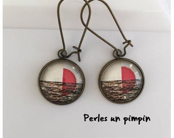 """Earrings """"sail on the waves"""""""