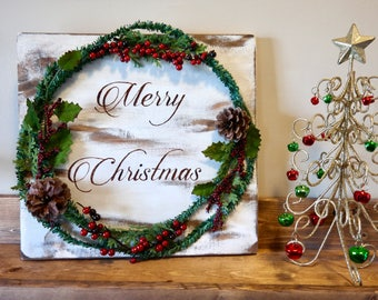 Merry Christmas Wood sign, wooden sign, Christmas Decoration