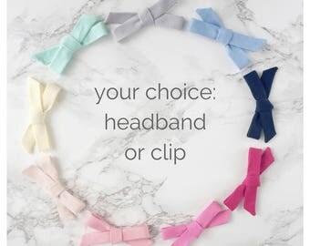 Solid Colour Bows, Baby Headband, Headbands, Hair Accessories, Hair Clips, Barrettes, Hair Bows, Newborn Headband, Baby Girl Headband