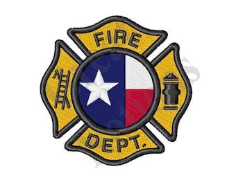 Texas Fire Dept - Machine Embroidery Design