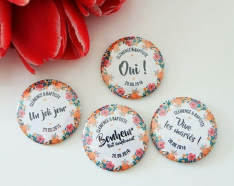 Wedding BOUQUET country badge