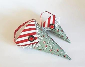 2 Sugar cones - 22 cm + 14 cm