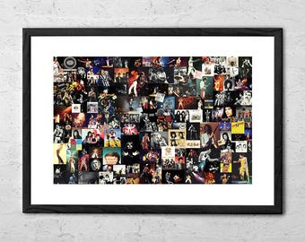 Queen Collage - Queen Band - Queen Poster - Rock and Roll Art - Rock Poster - Freddie Mercury - Rock Music - Brian May - 80s - Music Art