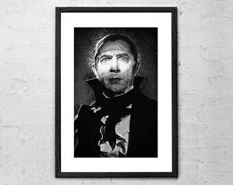 Count Dracula - Illustration - Bela Lugosi - Horror Art - Movie Poster - Bram Stokers Dracula - Vampire - Vintage Print - Horror Movie Art
