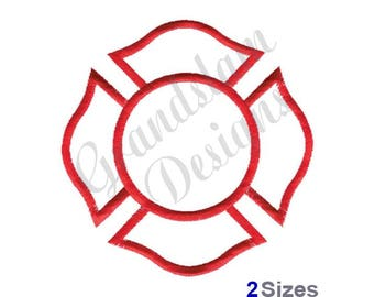 Fireman's Maltese Cross - Machine Embroidery Design