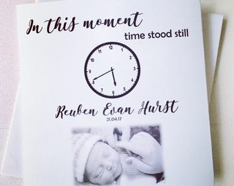 In This Moment Time Stood Still Greeting Card - New Arrival Card - Baby Card - New Baby Card - Baby - Greeting Card