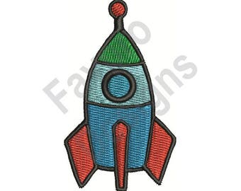 Rocket - Machine Embroidery Design