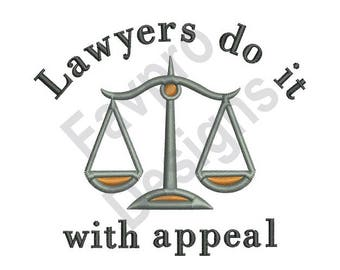 Lawyers Appeal - Machine Embroidery Design