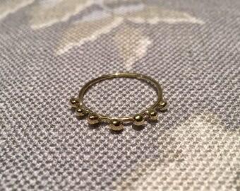 O-Fjorton Dots Handmade Ring