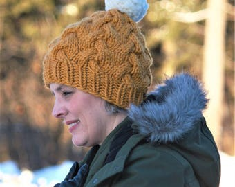The ALICE chunky cabled beanie