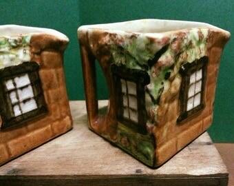 Vintage Cottage Ware Creamers / Vintage Made in England Cottageware Jugs