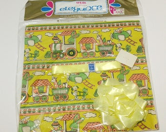 Vintage Baby Shower Wrapping Paper in Original Packaging - gift wrap; children's; collectible; 1970's; 1980's; rare; OOAK; all occasion