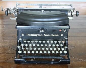Vintage, Remington Noiseless No. 6 Typewriter - WORKS BEAUTIFULLY!
