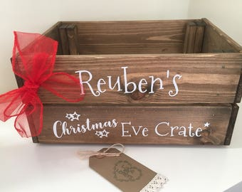 Personalised Christmas Eve crate, Christmas Eve box