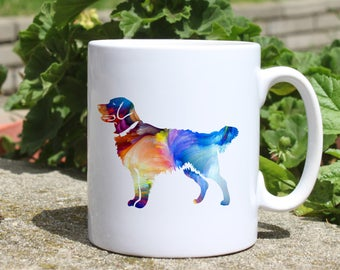Golden retriever mug - Dog watercolor mug - Colorful printed mug - Tee mug - Coffee Mug - Gift Idea