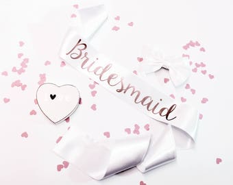 Bride to Be Sash, Custom Hen Party Sash, Rose Gold Sashes,  Bachelorette Sash,  Bridal Sash,  Bride Gift,  Wedding Sash,  Bride, Style R