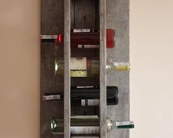 Wine Rack from Wood 75x35 cm Wine rack wall mounted - Rustic wine rack - Rustic decor - Provincial furniture - Rustic shelf - Wine decor P01