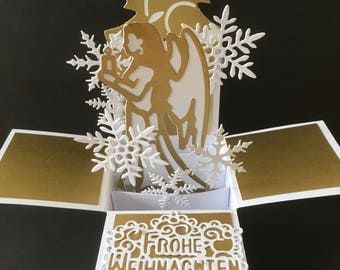 Golden Angel Christmas Card