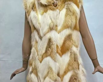Waisted vest from fox,Велурена жилетка от лисица hat from fox, шапка от лисица,kapelusz z lisów,Kamizelka z lamówką,