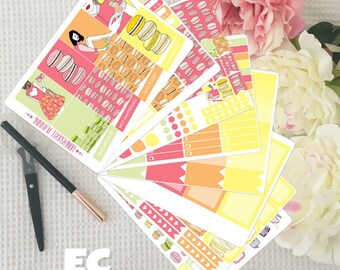 Macarons Weekly Sticker Kit for Erin Condren and Mini Happy Planner