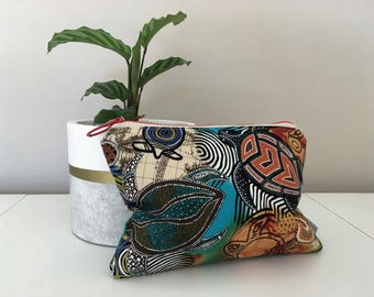 Indigenous Turtle Clutch - Aboriginal Design - Indigenous Purse - Indigenous Pouch - Sea Turtles - Turtle Clutch - Sea Turtle purse