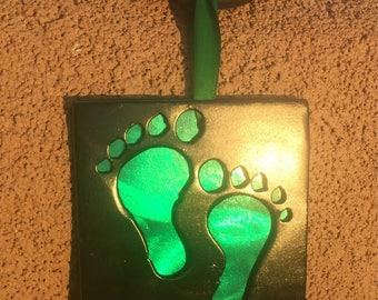 Green feet combat rescue ornament