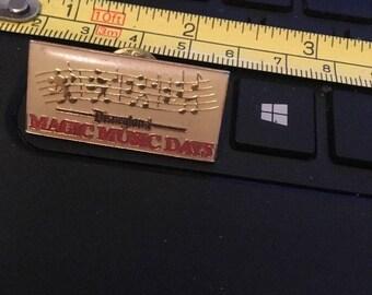 Vintage Lapel Pin Tie tack; Disneyland Magic Music Days