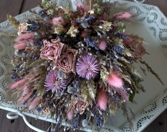 Rustic bouquet, dried flowers, woodland bouquet, vintage bouquet, rustic home decor, wild herbs shabby, country, old cottage style