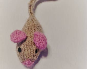 Handknitted Catnip Mouse