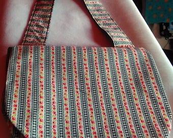 Floral Gingham Shoulder Bag
