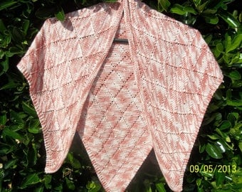 SHAWL, scarf, covers hand knitted shoulder
