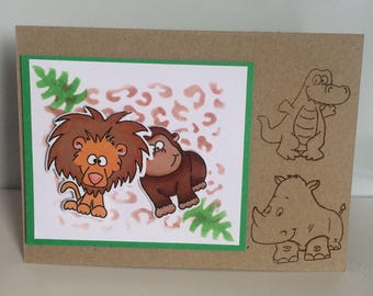 Handmade card - animal fun