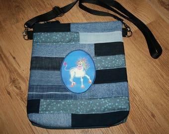 "Shoulder bag ""Josie"" Unicorn ""Crazy Unicorn"""