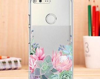 Succulent case, google pixel case,pixel xl case, silicone pixel case, google case, succulent, floral pixel case, pixel xl case, pixel 2 case