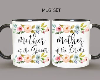 Mug Set, Personalized Mug, Mother Of The Groom Mug, Mother Of The Bride Mug, Wedding Mug, Mother Of The Groom Gift, Mother Of The Bride Gift