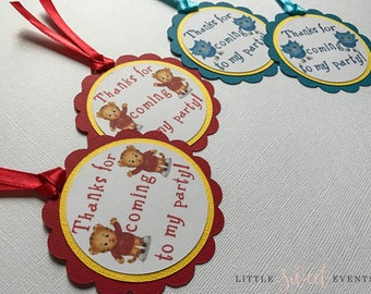 Daniel Tiger Favor Tags, Daniel Tiger Tags, Daniel Tiger Party Supplies, Daniel Tiger Party Decor