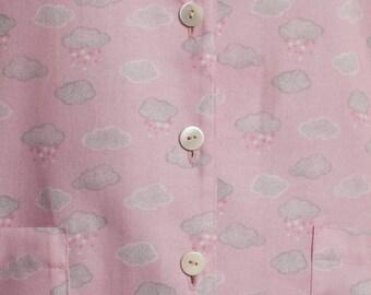 cloud print pajamas,cloudprint clothing,pajamas women,made in ireland,flannel pajamas women,flannel pajamas,pink pajamas women, pajamas pink
