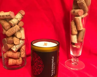 Pinot Noir Wine Bottle Candle