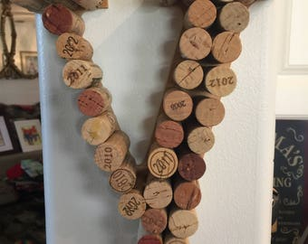 Wine Lovers' Letters with Corks Made to Order