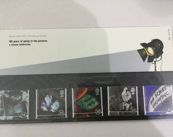 100 Years of Going To The Pictures Royal Mail Mint Stamps Presentation Pack 1996