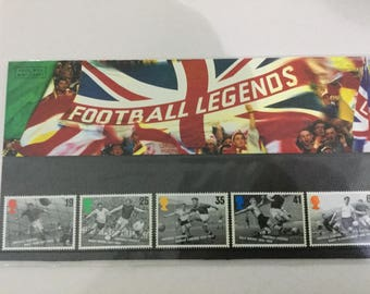 Football Legends Royal Mail Mint Stamps Presentation Pack 1996