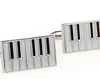 Piano Keyboard Cufflink Set Boxed