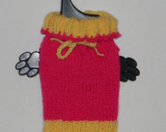 dog clothes, chihuahua sweater, hand knitted