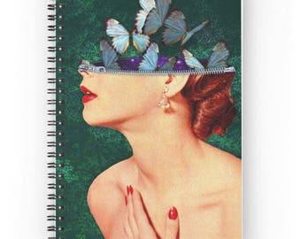 15x20 cm, Idea Notebook, Idea Spiral Notebook, Idea Journal, Butterfly Journal, Plants Journal, Vintage Journal, Vintage Notebook