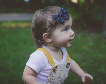 Navy Sweetheart Mini Sailor Bow | Headband Bows, Hair Clip, Hair Bow, Toddler Bows, Hair Clips, Girl Hair Bow, Hair Accessories, Baby Girl