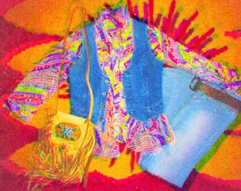 70's Pyschedelic Night Moves Blouse