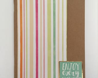 Decorated Notebook - Enjoy Every Moment (N09)