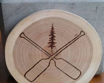 Wood Burned Paddles