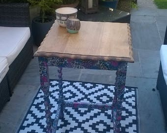 Hall Table, up cycled Up-cycled Decoupage Table